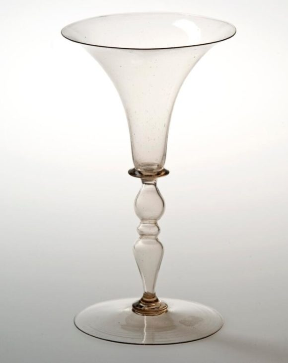 Wine glasses made in Venice around 1550