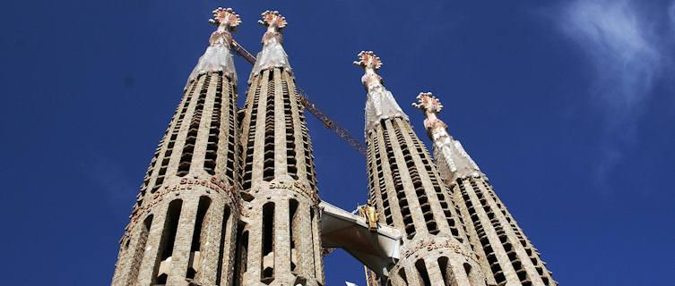 Gaudí's celebrated Sagrada Família cathedral, Barcelona