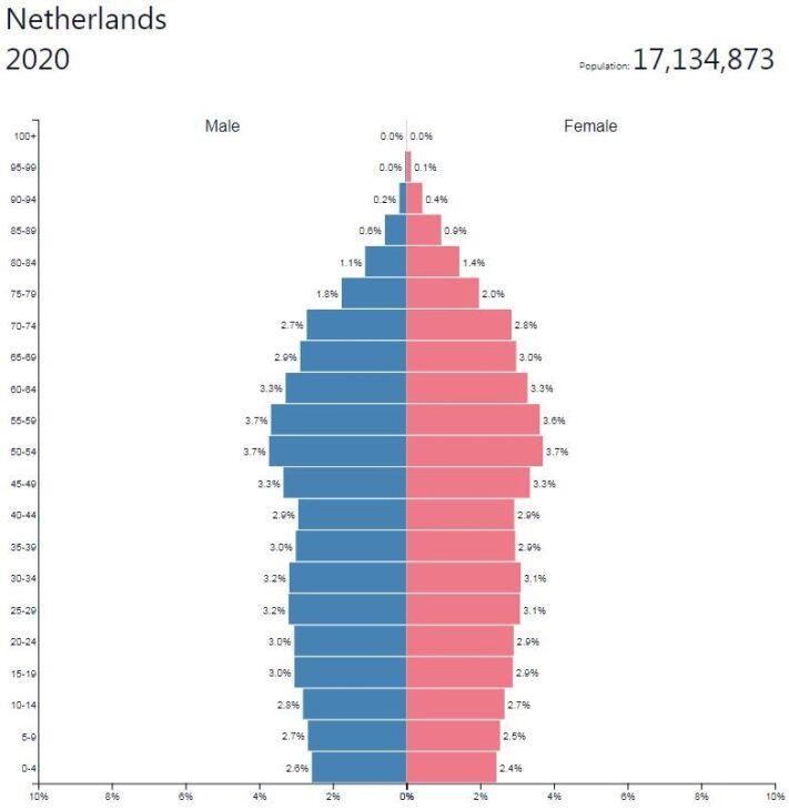 Netherlands Population Pyramid