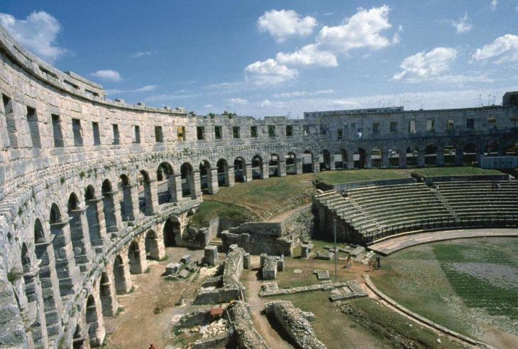 The Roman amphitheater in Pula