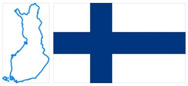 Finland Flag and Map