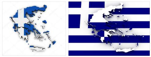 Greece Flag and Map