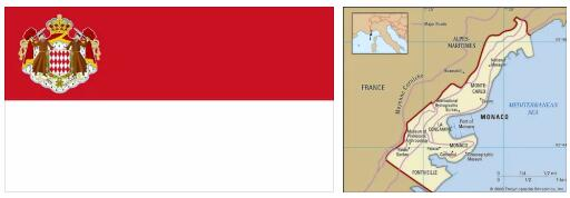Monaco Flag and Map 2