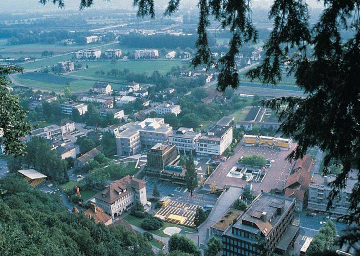 Part of Liechtenstein's capital Vaduz