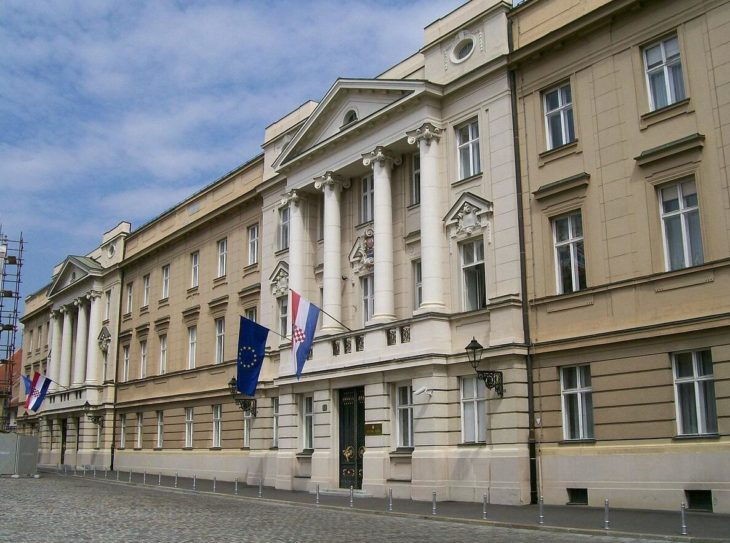 The Croatian parliament building in Zagreb