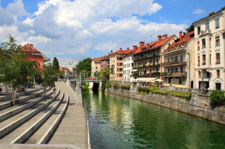 The old town of Ljubljana