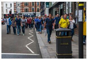 Football match in London