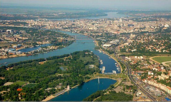 Belgrade seen from the air