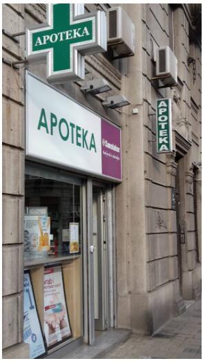 Pharmacy in Belgrade Serbia
