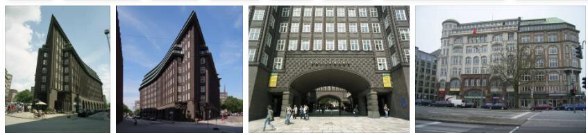 Speicherstadt and Kontorhaus District with Chilehaus in Hamburg