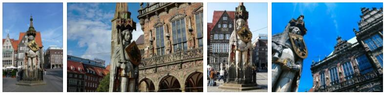 Town Hall and Roland statue in Bremen